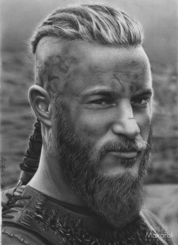 08-Ragnar-Lothbrok-Vikings-Travis-Fimmel-Maíra-Poli-Mahbopoli-Black-and-White-Realistic-Pencil-Celebrity-Portraits-Drawings-www-designstack-co