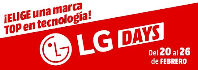 Mejores ofertas promoción LG Days de Media Markt