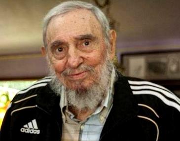 Foto de Fidel Castro muy canoso