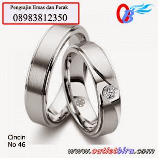 Model Cincin Cincin Tunangan Emas Putih
