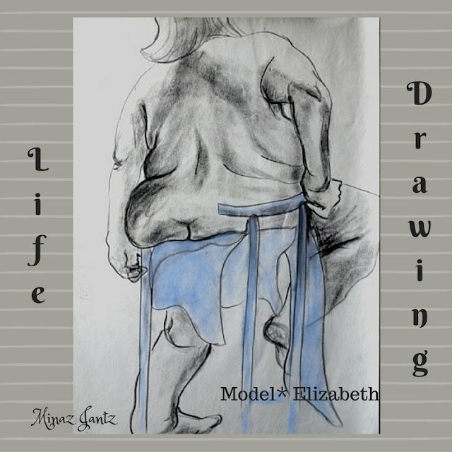 Nude Drawings by Minaz Jantz. Model Elizabeth