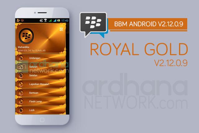 BBM Royal Gold - BBM Android V2.12.0.9