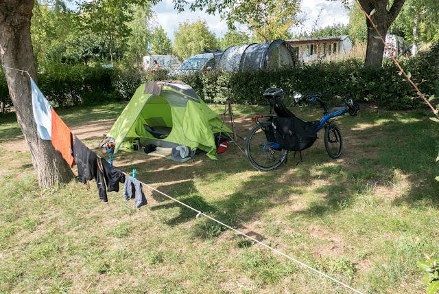 Voyage à vélo de la Bourgogne à la Provence, camping