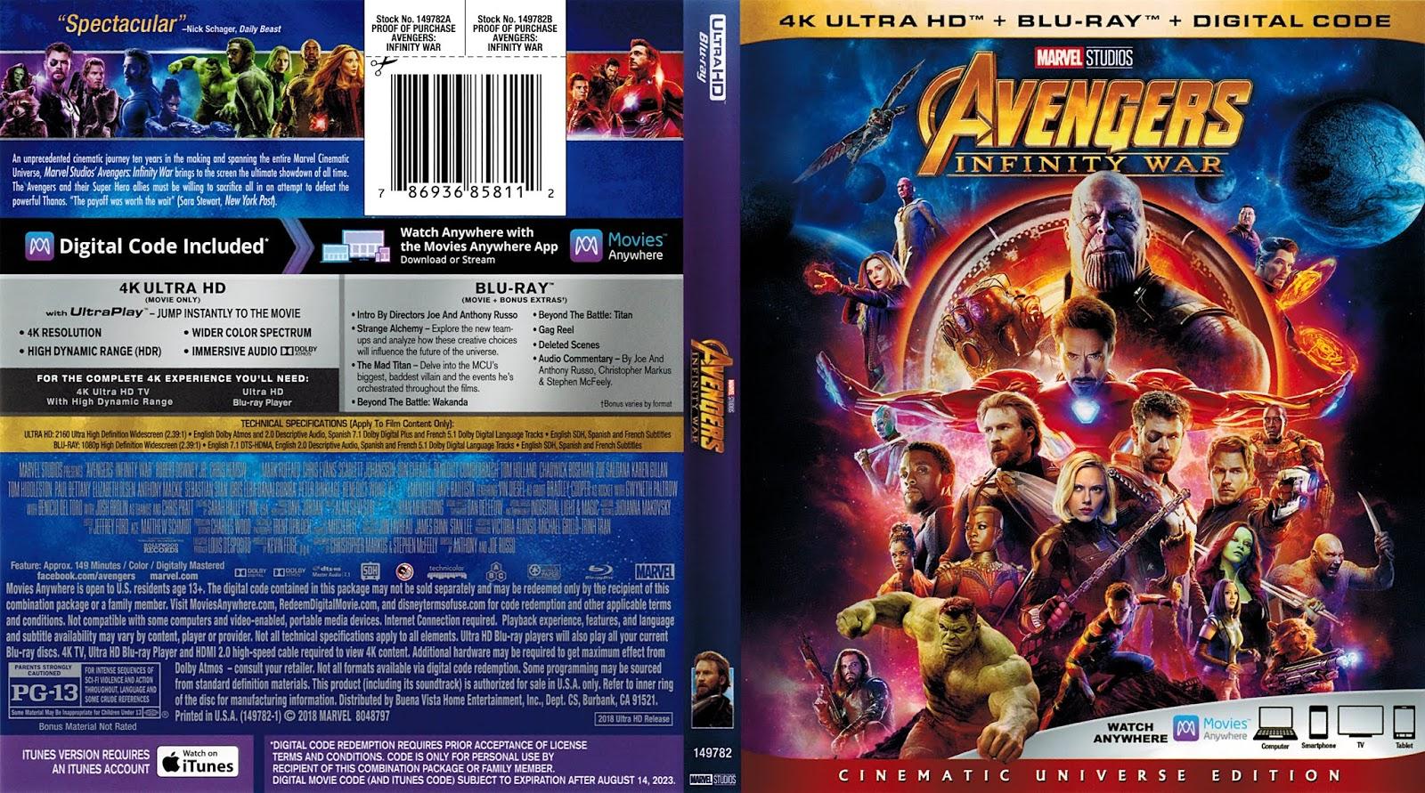Infinity War Dvd Start