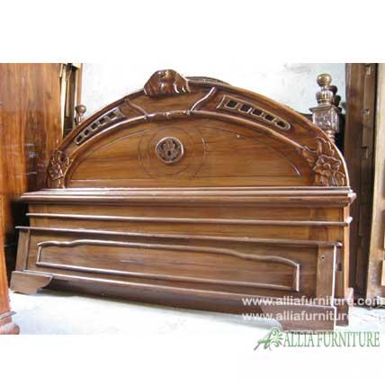 tempat tidur kayu jati model astina