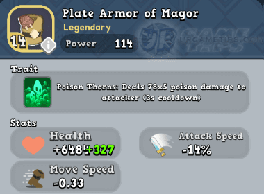 World of Legends Plate Armor of Magor