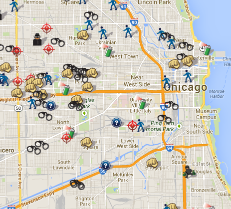 Crime Data Transparency Ranking 50 Us Cities Spotcrime The - Crime-map-of-the-us