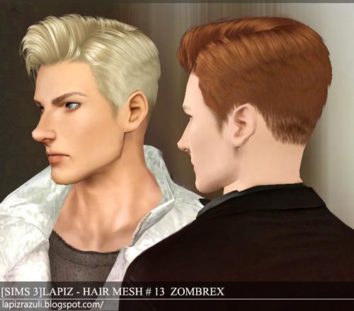 Sims 2 Hairstyles: Lapiz's Scrapyard: [Sims3] Hair Mesh #13A, #15