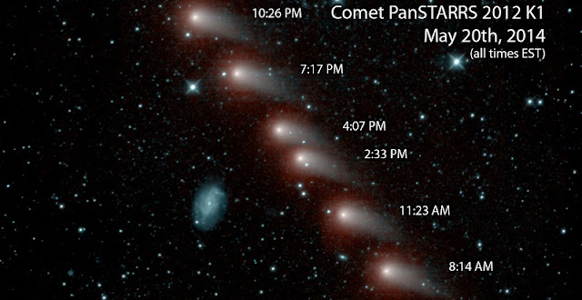 NASA's NEOWISE mission captured a series of infrared images of comet C/2012 K1 -- also referred to as comet Pan-STARRS -- as it swept across our skies in May 2014. Credits: NASA/JPL-Caltech