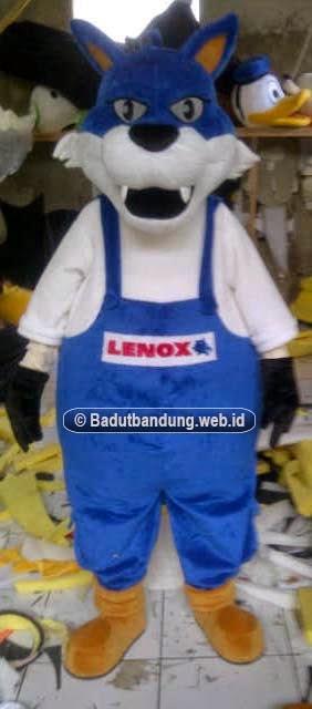 gambar kostum badut serigala lenox maskot jakarta