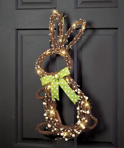 Grapevine bunny for door