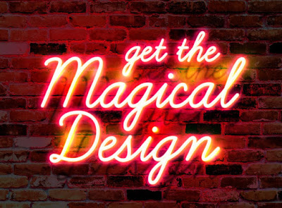 Wall Neon Glow Text Effect PSD