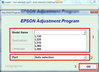 Resetter Epson L130 L220 L310 L311 L360 L355 L365