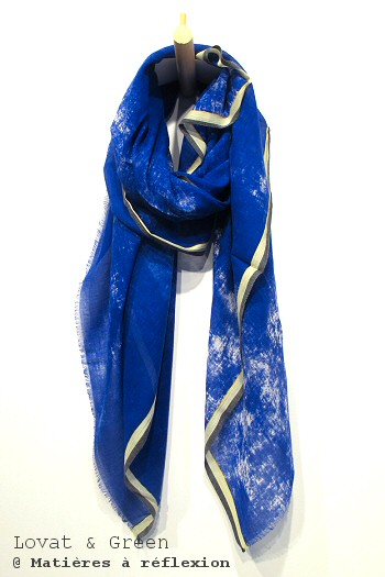 Foulard Denim bleu Lovat & Green