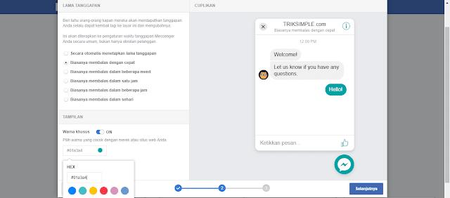 Cara Membuat Tombol Live Chat Facebook Messenger di Blog