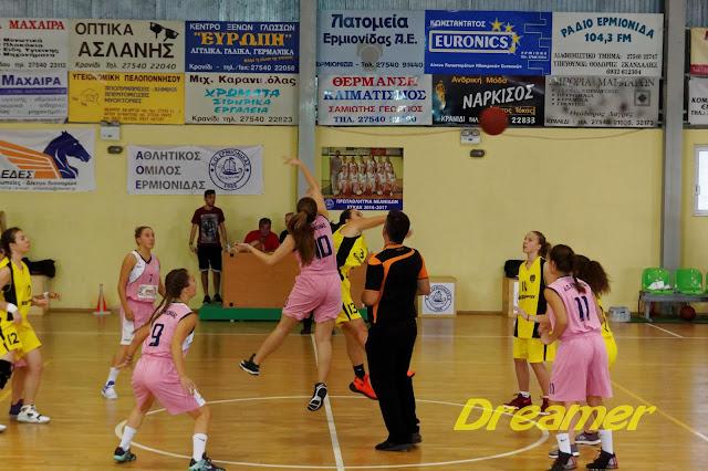 Σαρωτική νίκη των κοριτσιών του Α.Ο.Ερμιόνης απέναντι στον Α.Ο.Κρανιδίου με 28-84 (βίντεο)