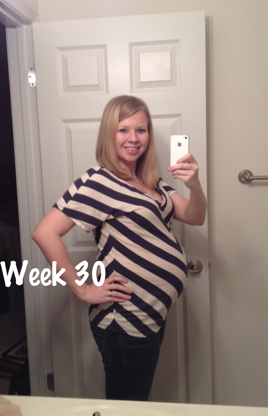 30 Weeks Pregnant - Belly Pictures! Woo Hoo! - Modernly Morgan