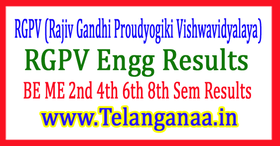 RGPV Engg Results 2017 BE ME 2nd 4th 6th 8th Sem Results