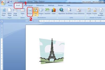 cara memasukan gambar di word