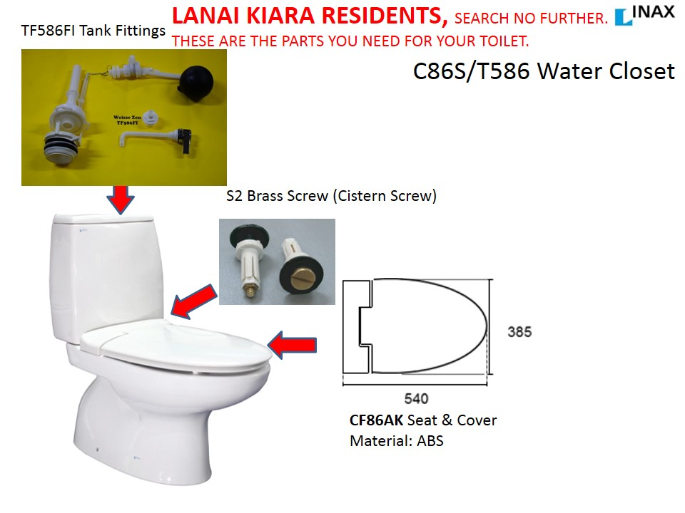 parts of a toilet seat. Sanitary wares fittings and spare parts  INAX toilet seat cover