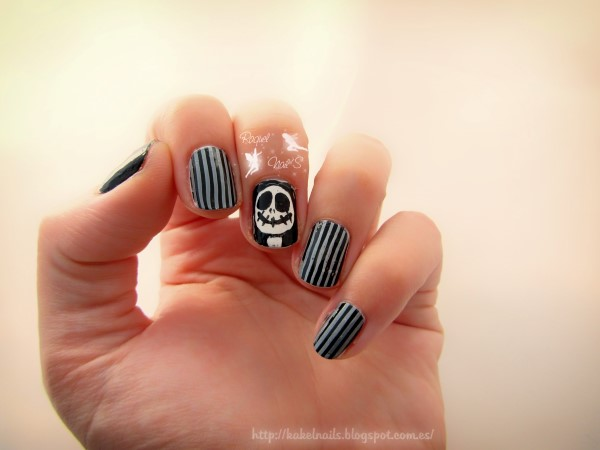 Jack Skeleton nail art
