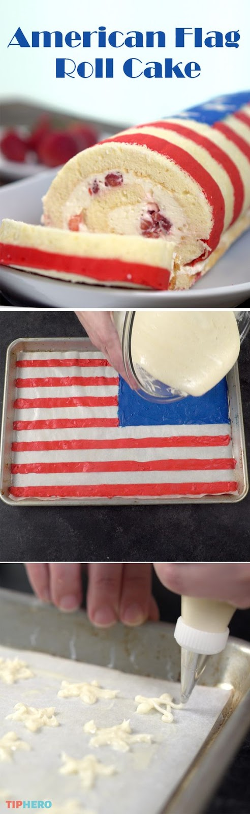 How To Make An American Flag Roll Cake For The 4th Of July