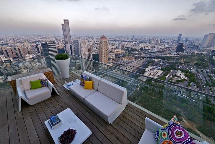 Penthouse terrace with furniture