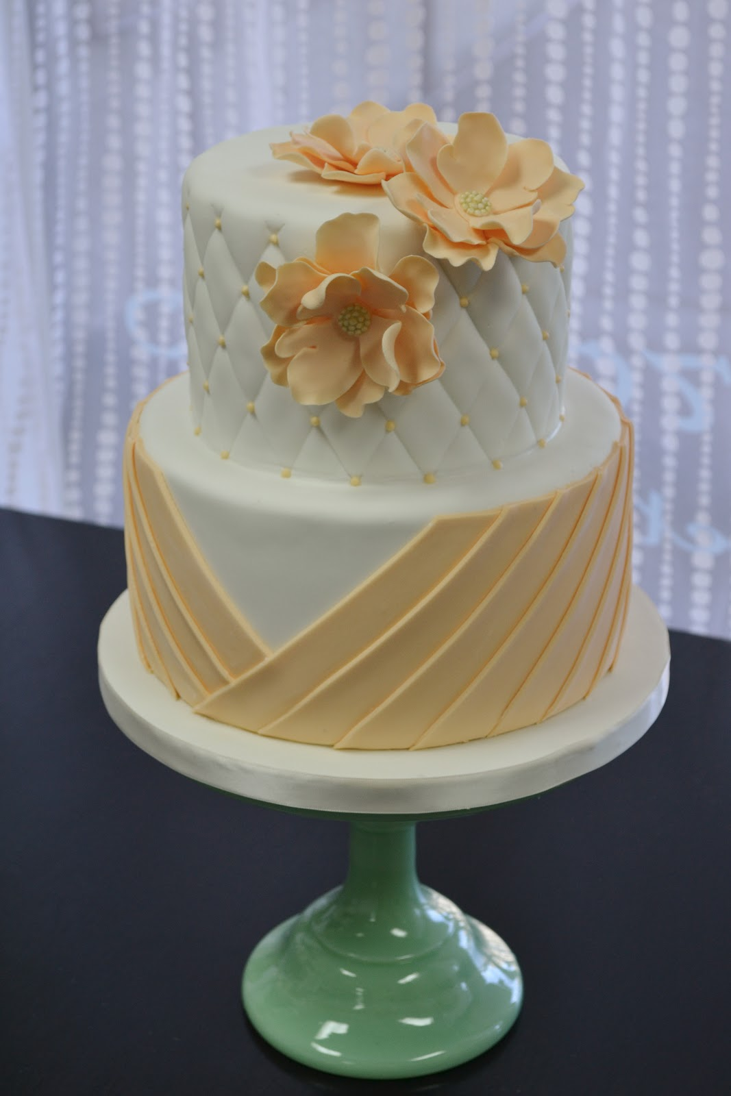 peach and white wedding cake sweet cakes by just peachy wedding cake 18136