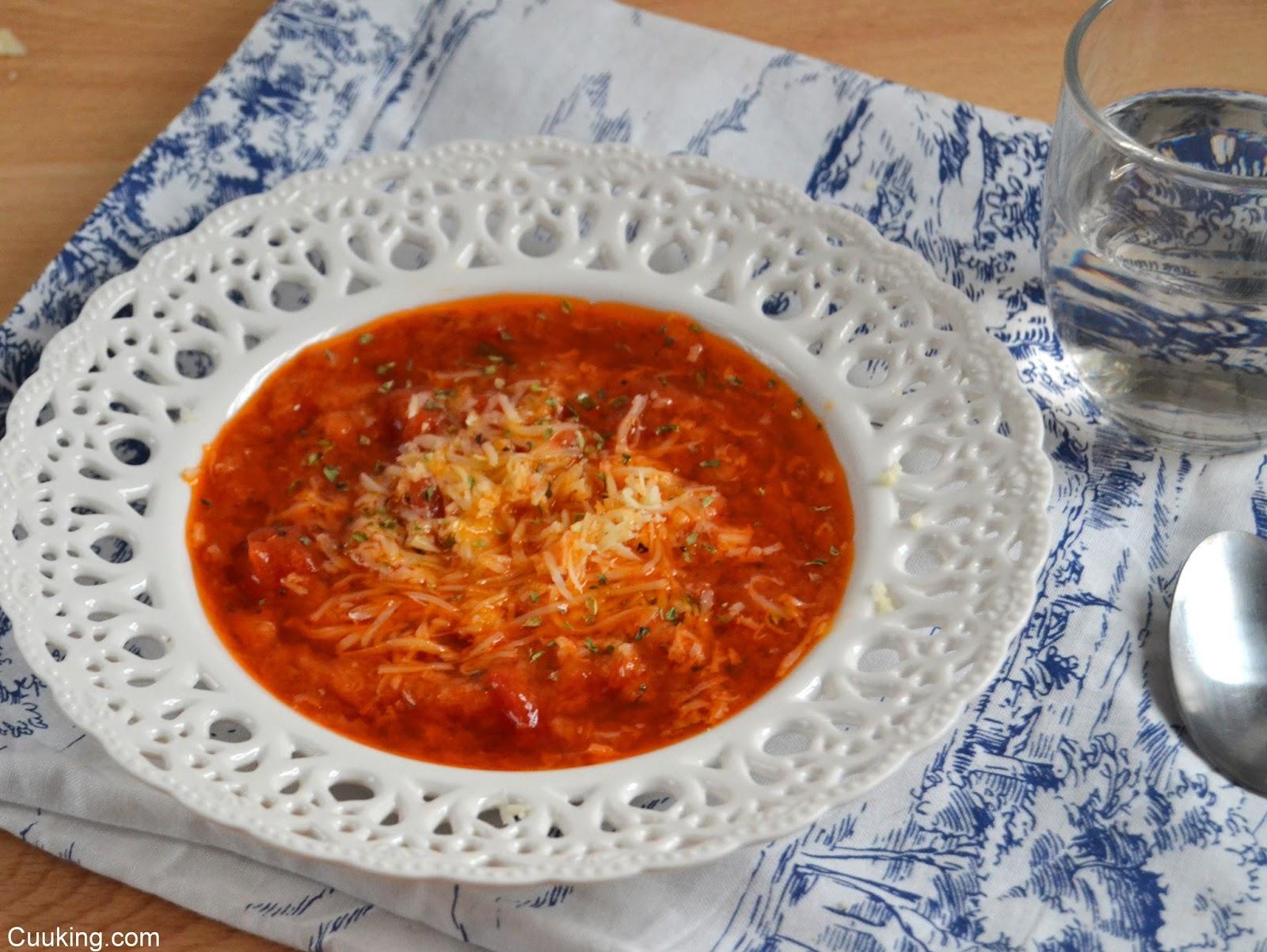 Pappa al pomodoro (Sopa italiana de tomate)