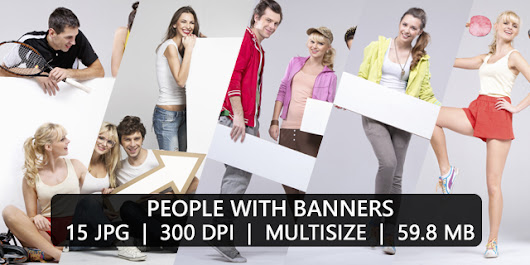 PEOPLE WITH BANNERS PACK 009 ~ Jeanxprto