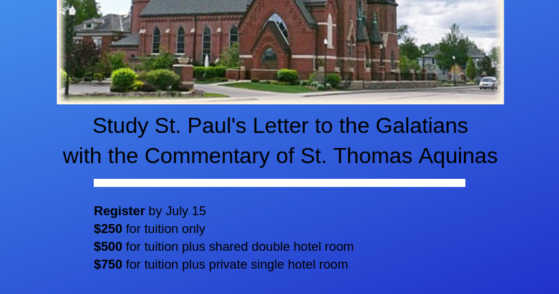 RORATE CÆLI: Summer Study Program on Galatians with Daily
