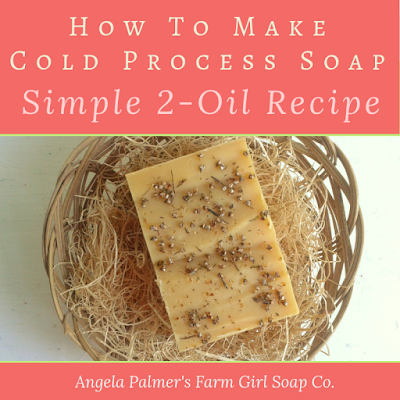 Ready to make soap from scratch? Try this super simple cold process soap recipe with just 2 oils.