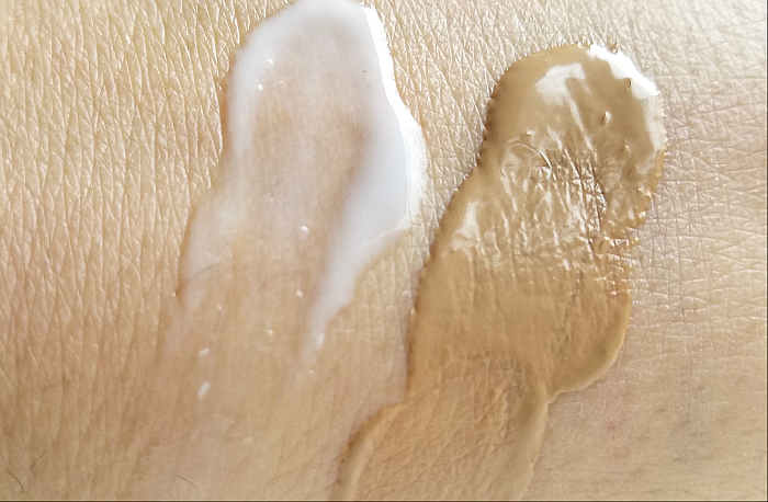 Swatches & Konsistenz: ALCINA Perfect Primer & ALCINA Nude Colour Cream