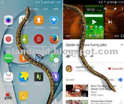 Cara memunculkan Ular di layar android tanpa Like dan share FB
