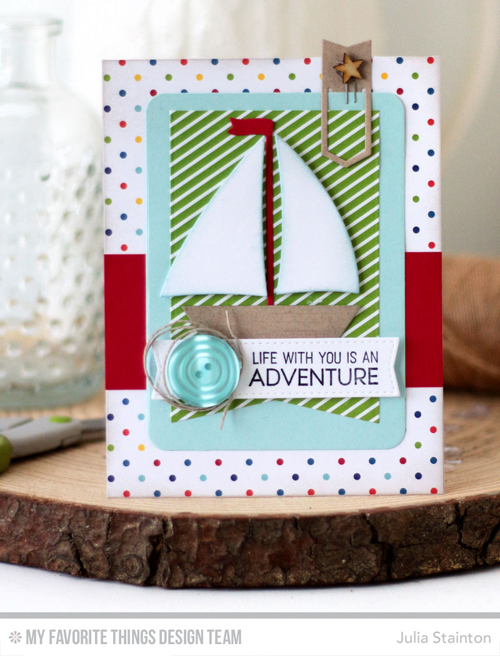 Handmade card from Julia Stainton featuring products from My Favorite Things #mftstamps