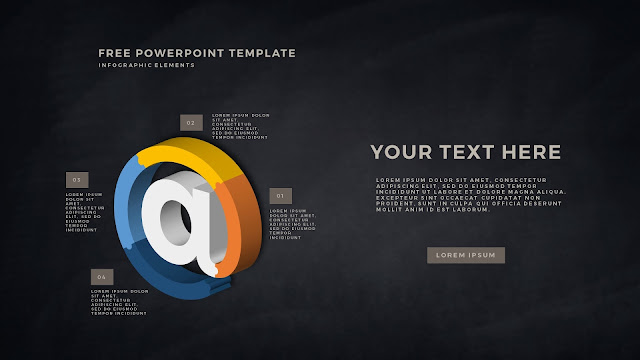 Free PowerPoint Template with 3D Puzzle and Sign Infographic Elements Slide 7