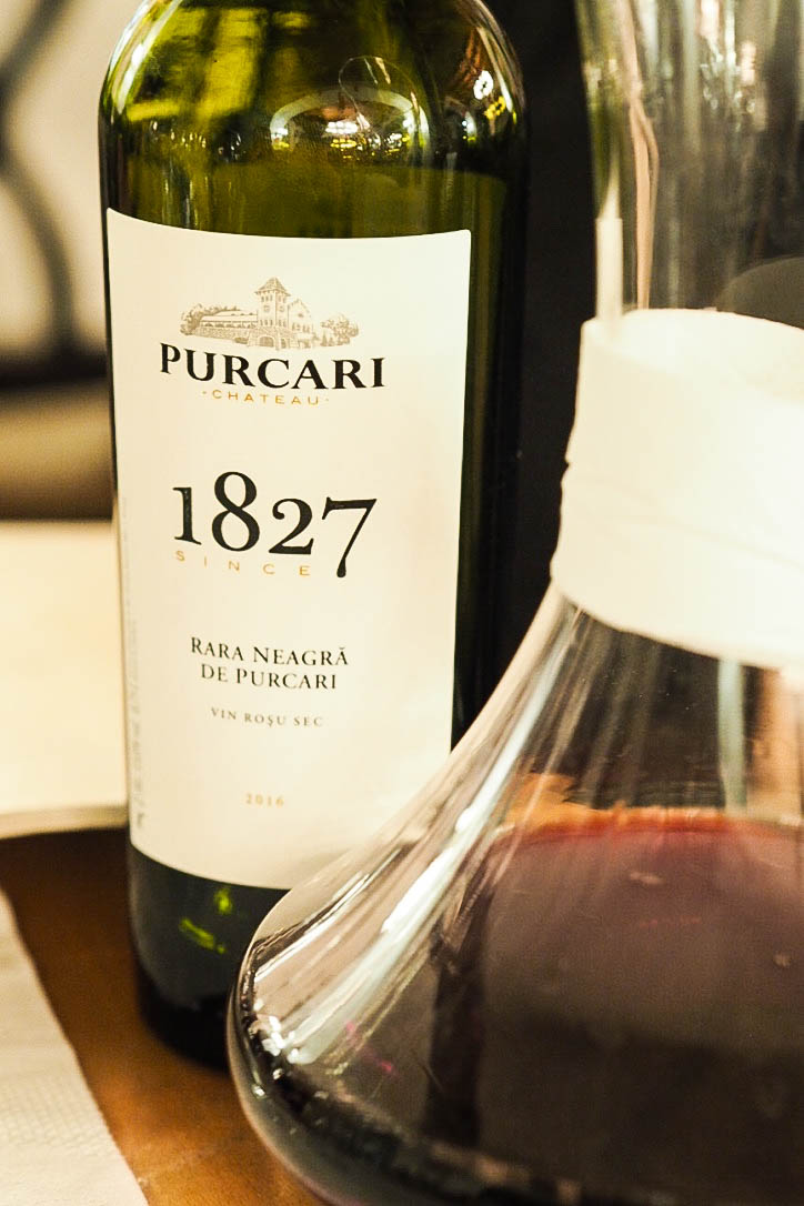 Purcari chateau red wine