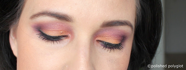 EOTD Orange + purple close up
