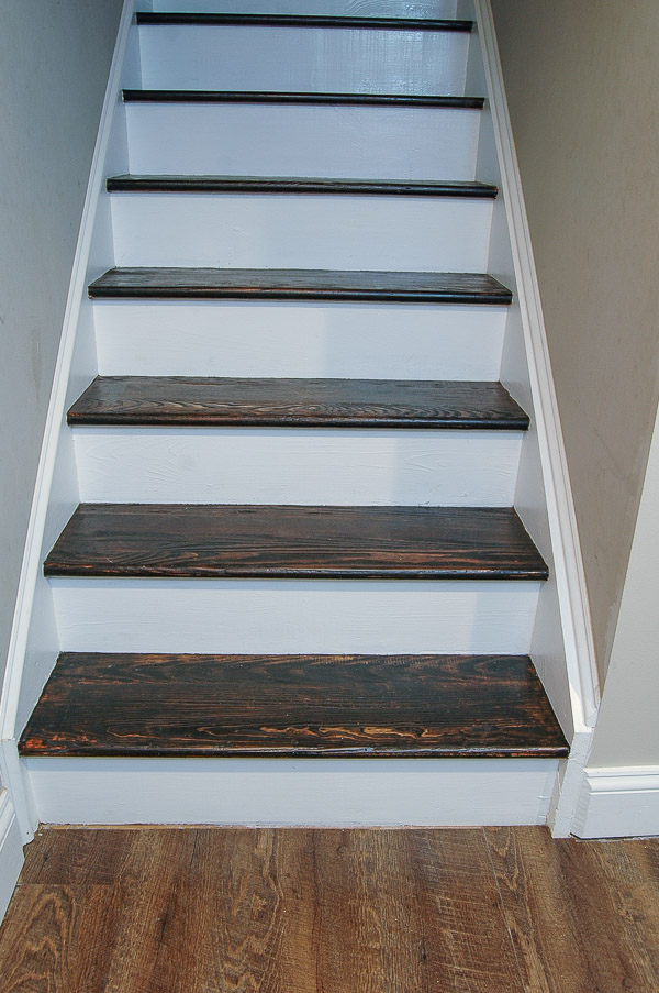 The easiest way to remove carpet and completely transform wood stairs. - www.littlehouseoffour.com