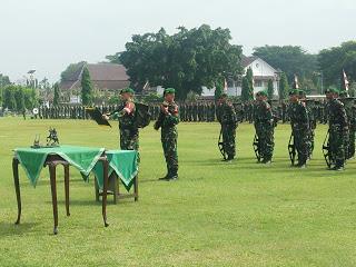Dandim 0703 Cilacap Sambut Peleton Beranting Yudha Wastu Pramuka Jaya