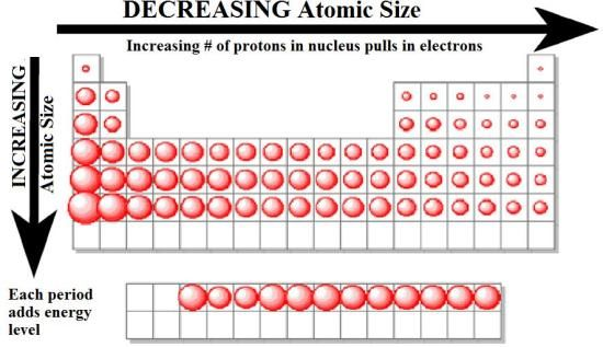 Lesson 2 graduation of properties of elements in the modern 1 graduation of atomic size in the periodic table urtaz Images