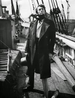 Gregory Peck  dans le rôle du capitaine Achab: Moby Dick de Huston