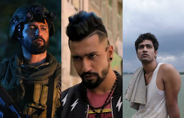 Vicky Kaushal as: 1. Major Vihaan Singh Shergill in Uri. Vicky Sandhu in Marmarziyaan. Deepak in Masaan