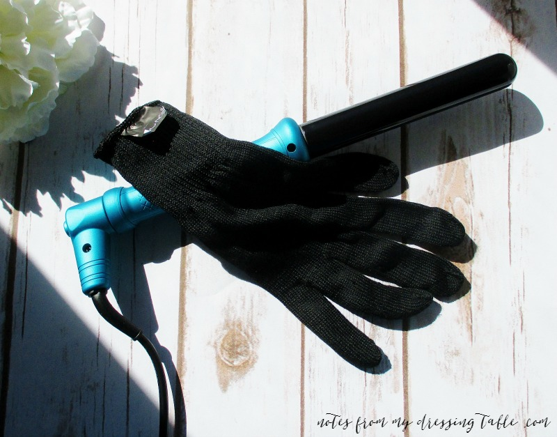 Nu Me Classic Curling Wand and a Very Special Offer!-Review-Glove-Detail-notesfrommydressingtable.com