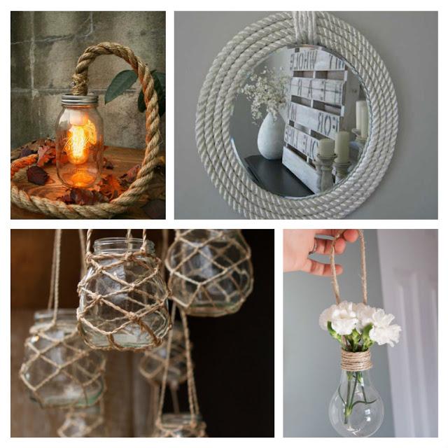 Ιδέες διακόσμησης με σχοινί