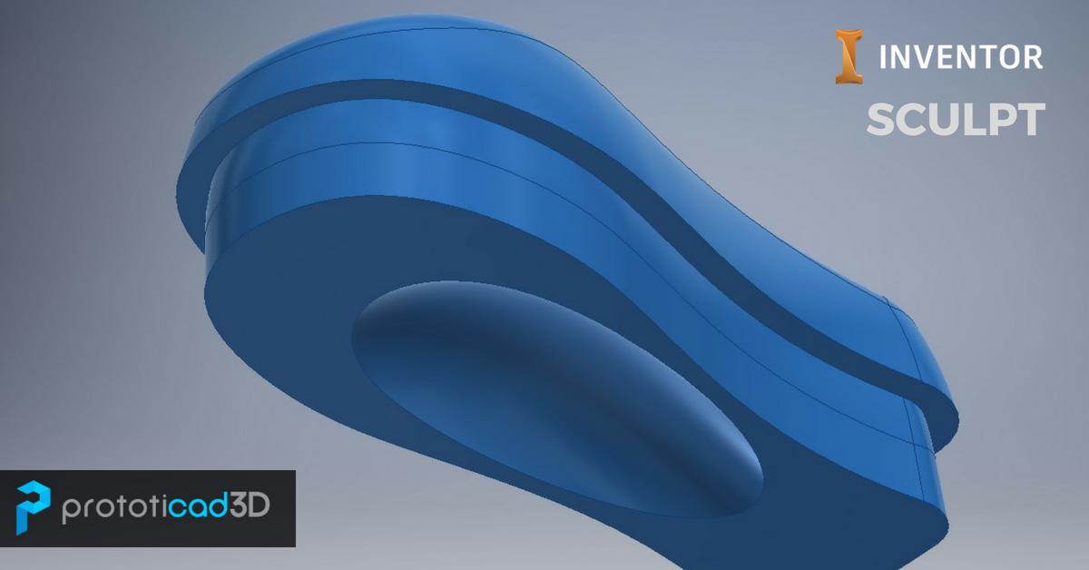 Como utilizar la herramienta SCULPT de Autodesk Inventor