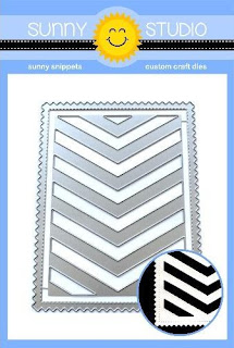 Sunny Studio Stamps: Frilly Frames Chevron 3-in-1 Mix and Match Low Profile Metal Cutting Dies