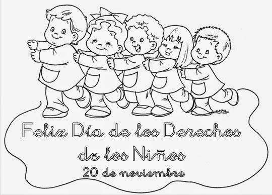 Dibujos Para Colorear 20 Noviembre Preescolar: Plastilina Y Lápiz: 20 De Noviembre: Día De Los Derechos