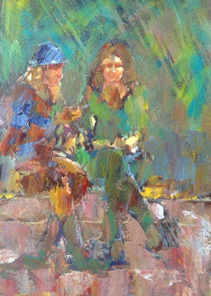 Масляной и акварельной красками. Joseph Mahon