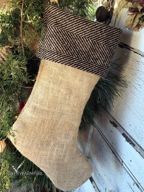 rustic stockings
